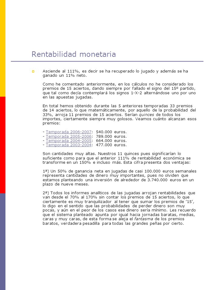 Rentabilidad monetaria
