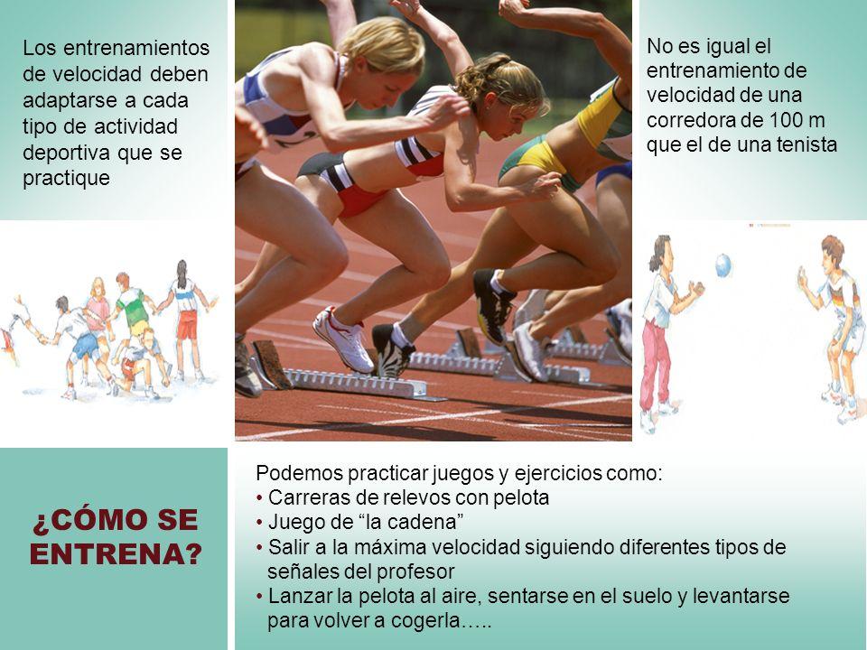 Los entrenamientos de velocidad deben adaptarse a cada tipo de actividad deportiva que se practique