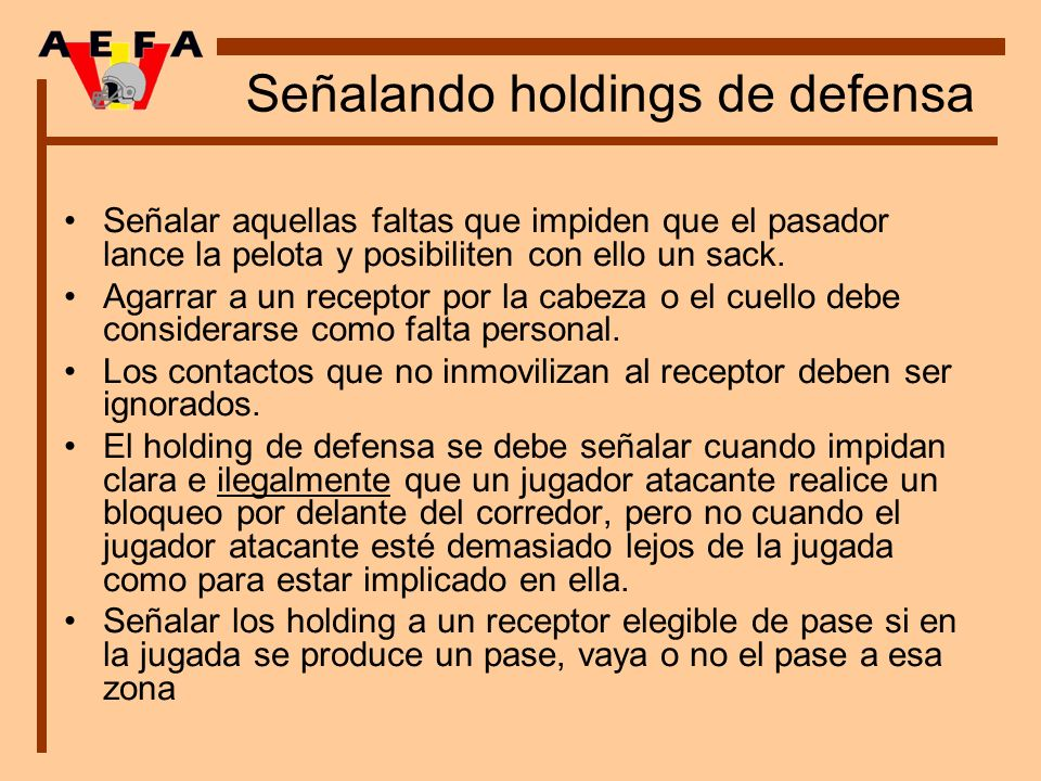 Señalando holdings de defensa