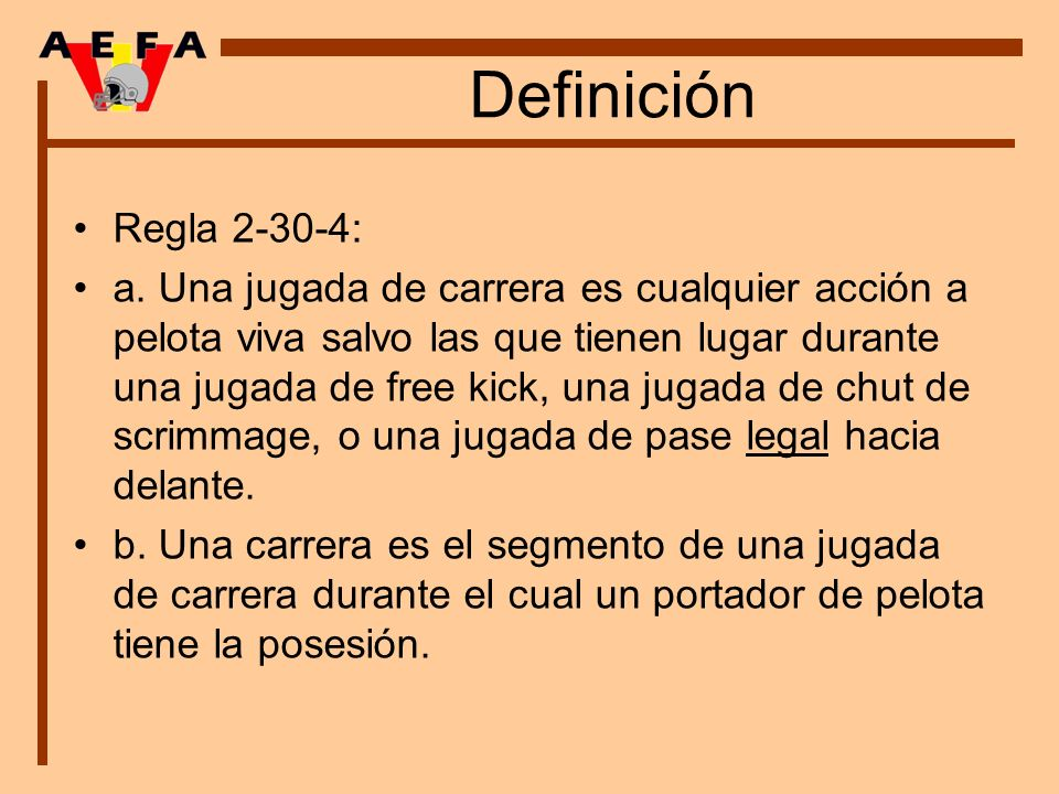 Definición Regla 2-30-4: