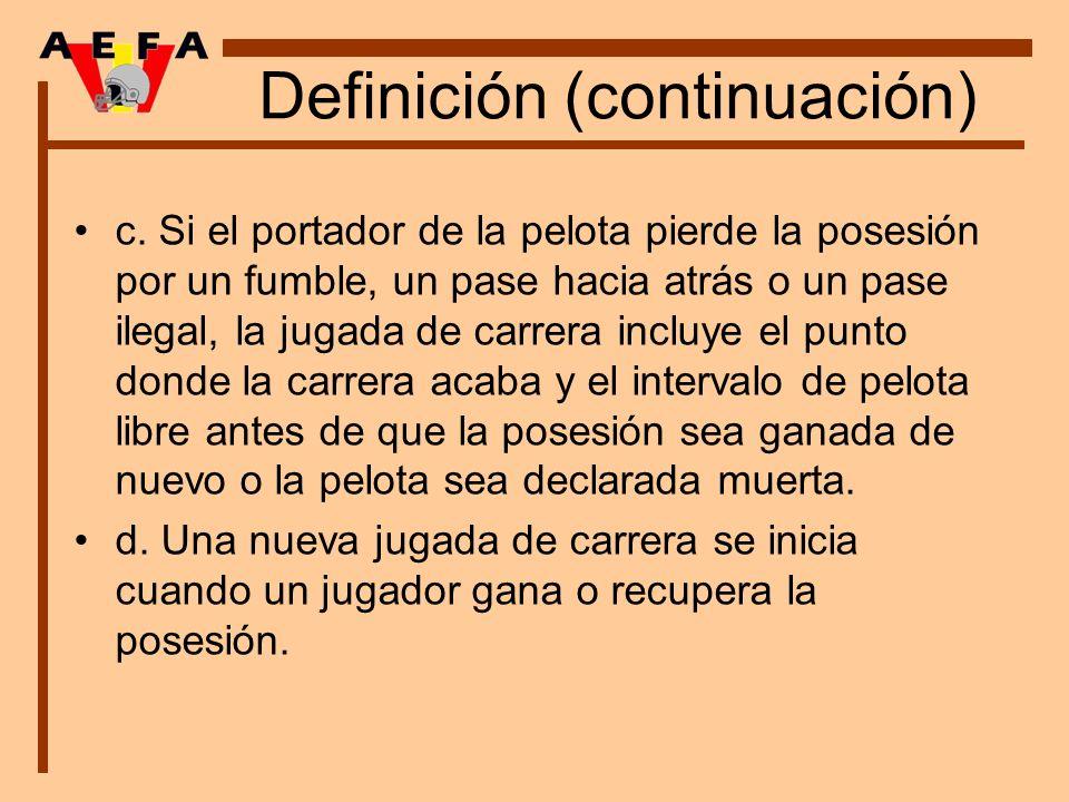Definición (continuación)