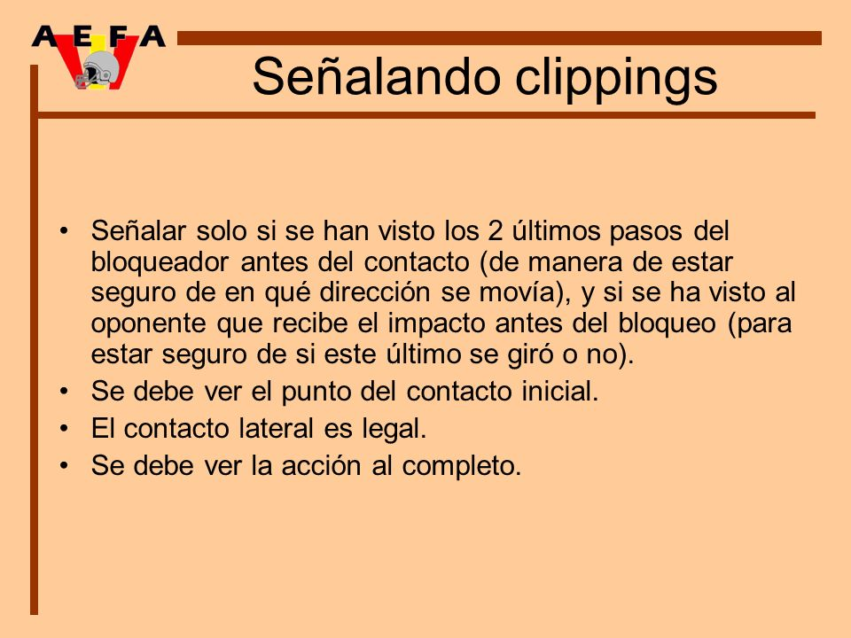 Señalando clippings