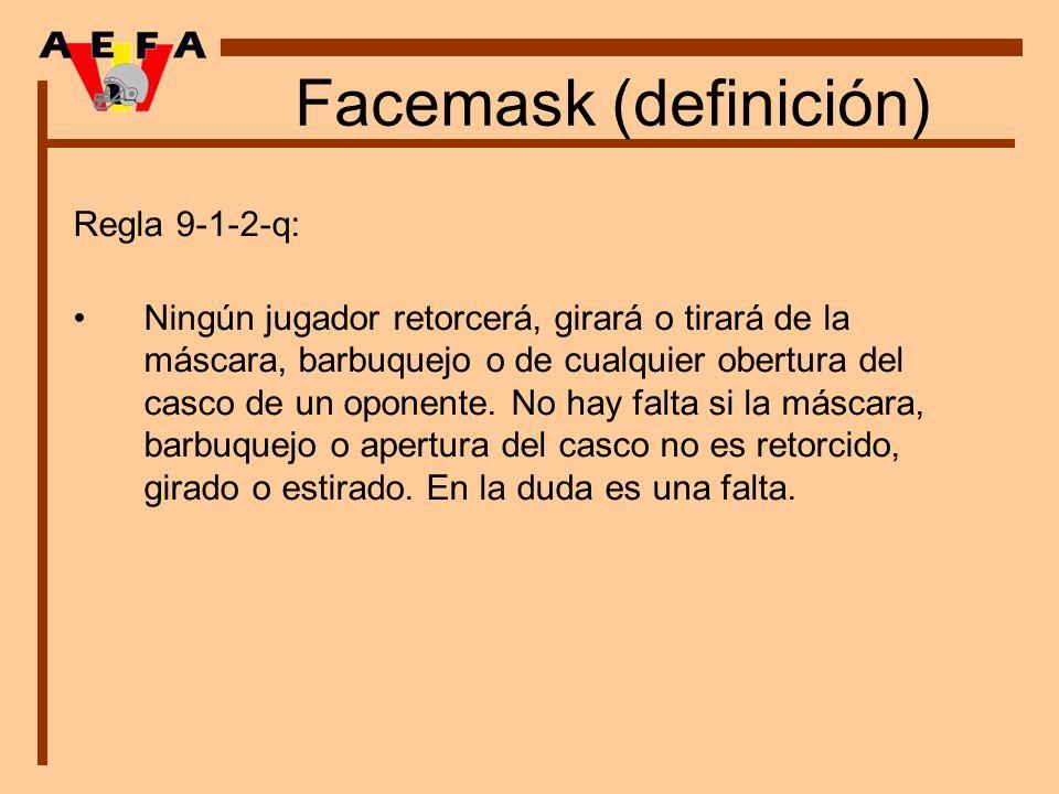 Facemask (definición)