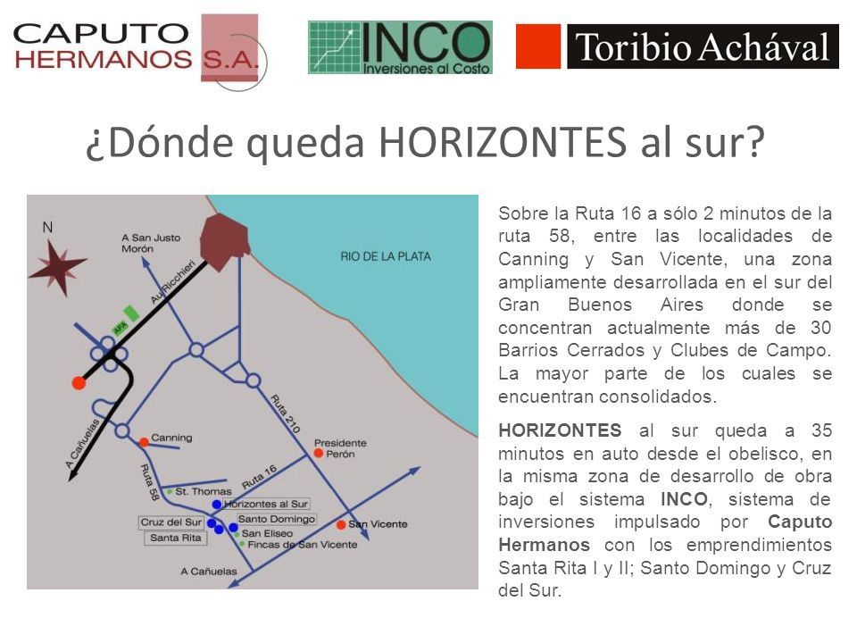 ¿Dónde queda HORIZONTES al sur
