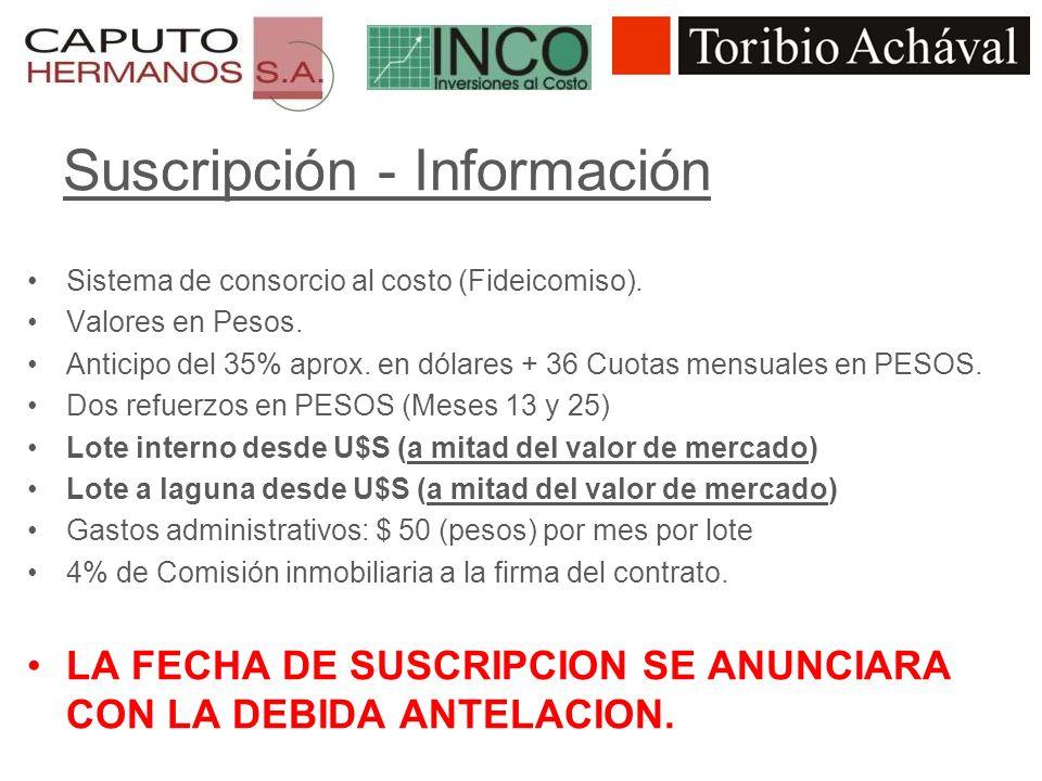 Suscripción - Información