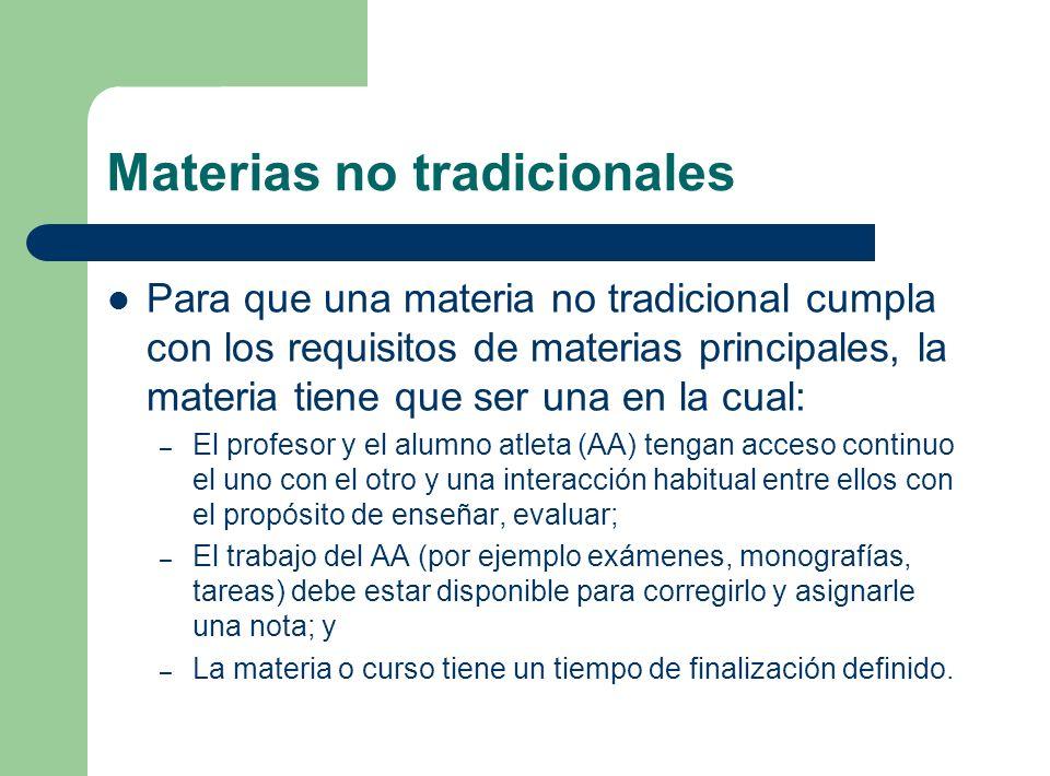 Materias no tradicionales