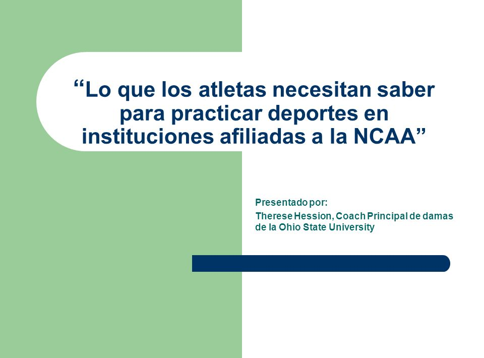 Lo que los atletas necesitan saber para practicar deportes en instituciones afiliadas a la NCAA