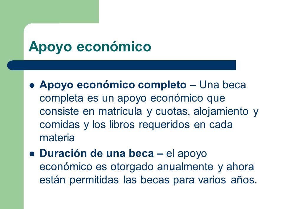 Apoyo económico