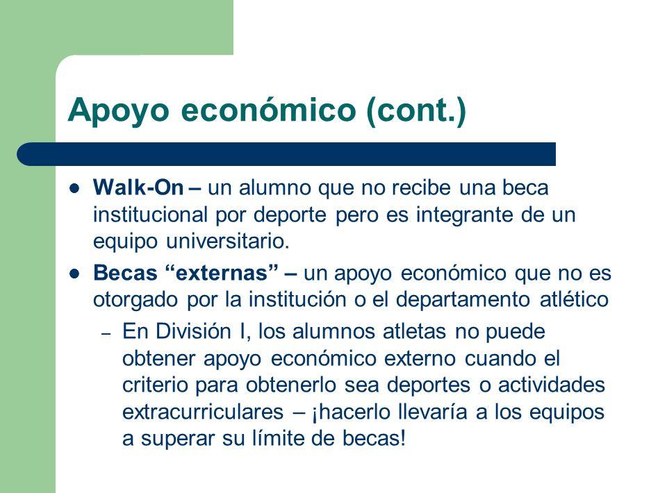 Apoyo económico (cont.)