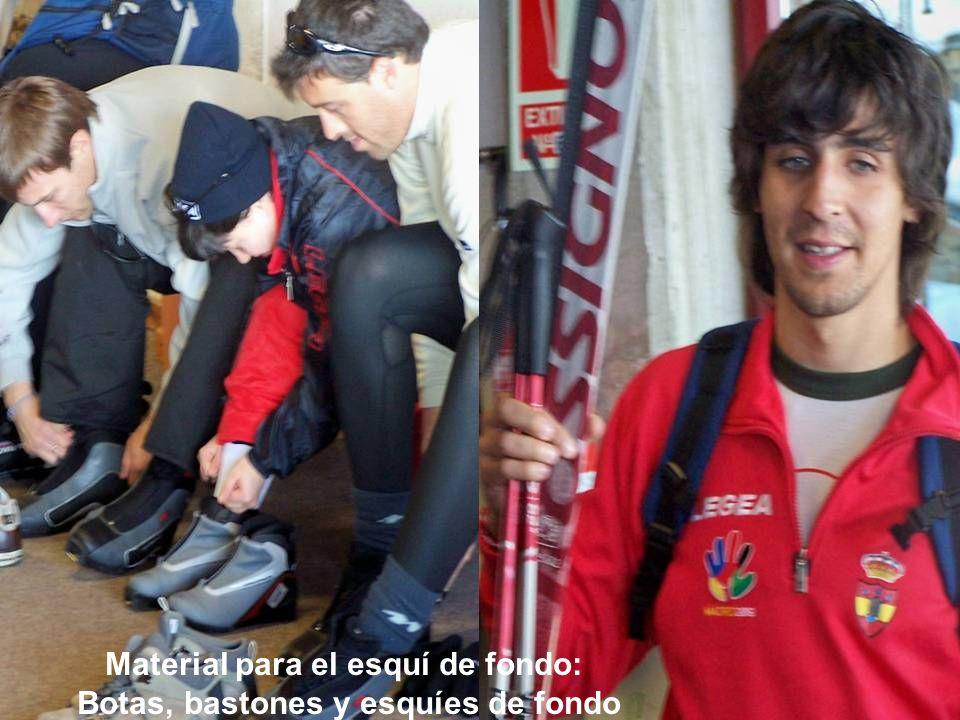 Material para el esquí de fondo: Botas, bastones y esquíes de fondo