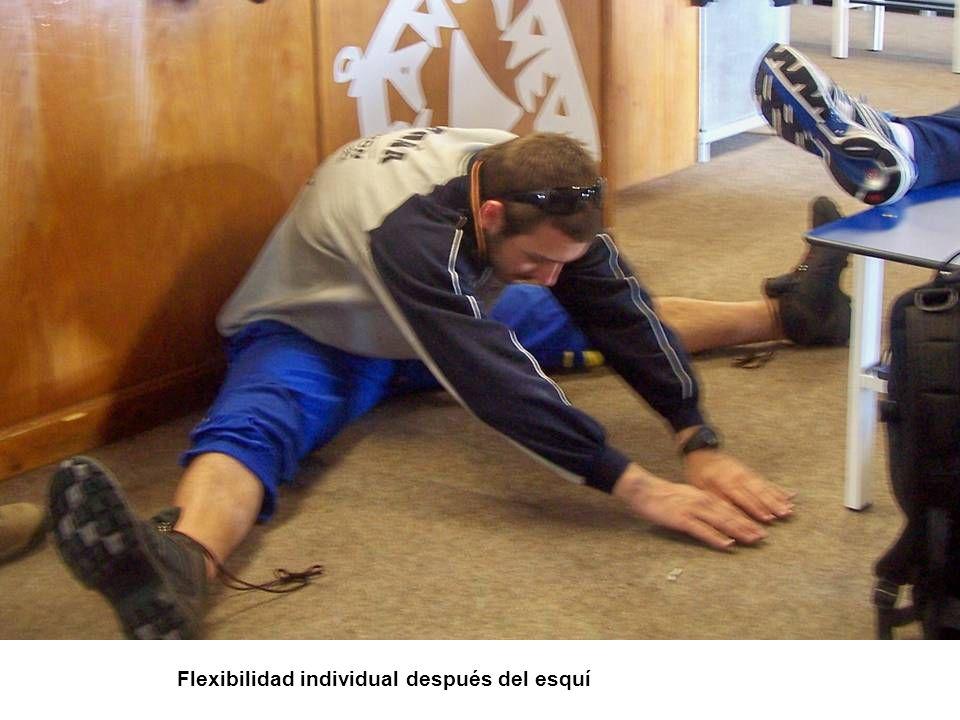 Flexibilidad individual después del esquí
