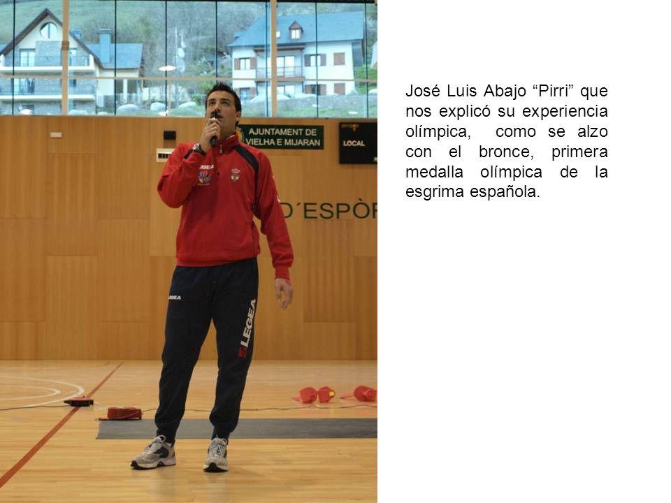 José Luis Abajo Pirri que nos explicó su experiencia olímpica, como se alzo con el bronce, primera medalla olímpica de la esgrima española.