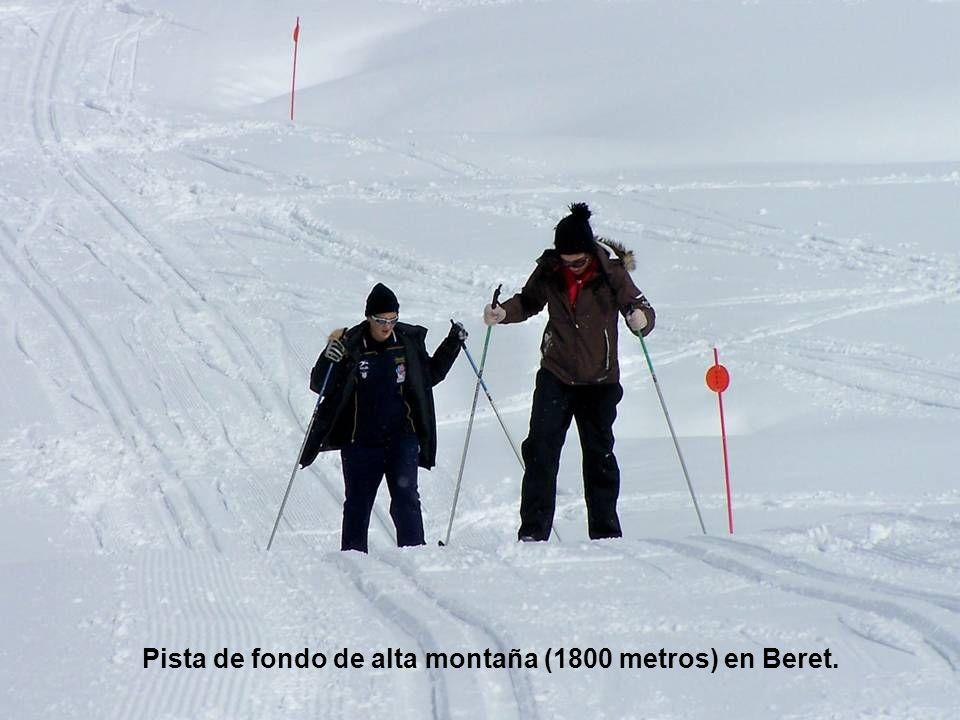 Pista de fondo de alta montaña (1800 metros) en Beret.