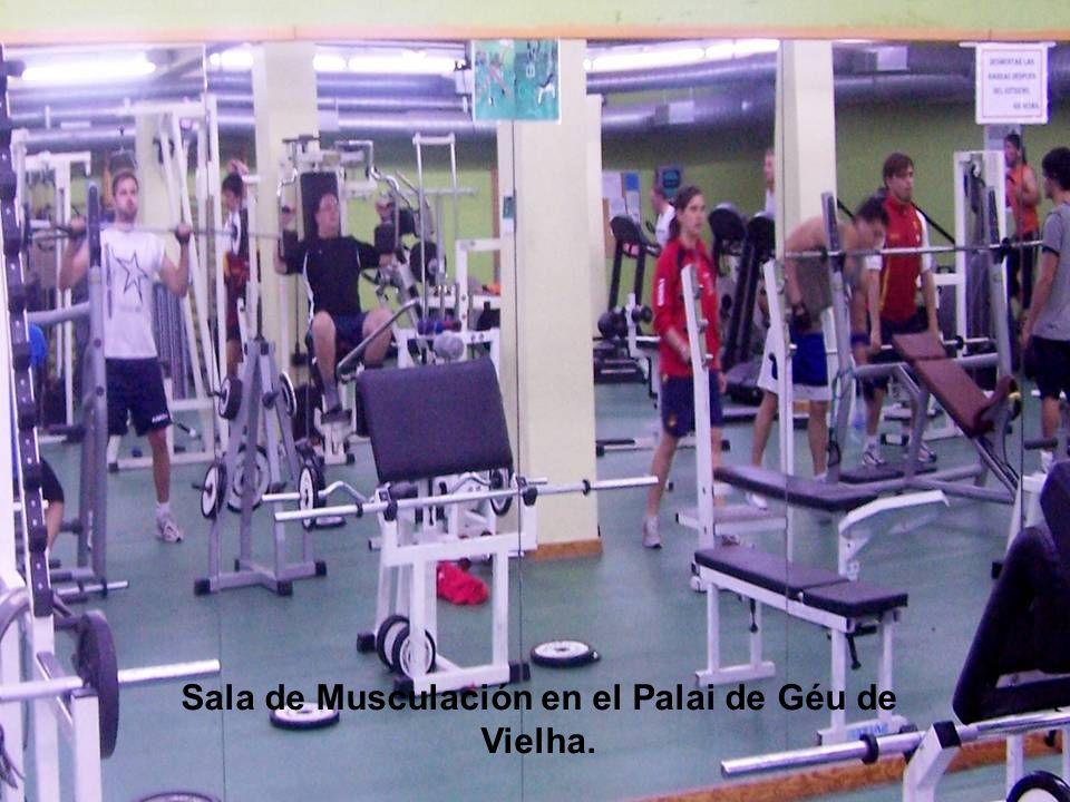Sala de Musculación en el Palai de Géu de Vielha.
