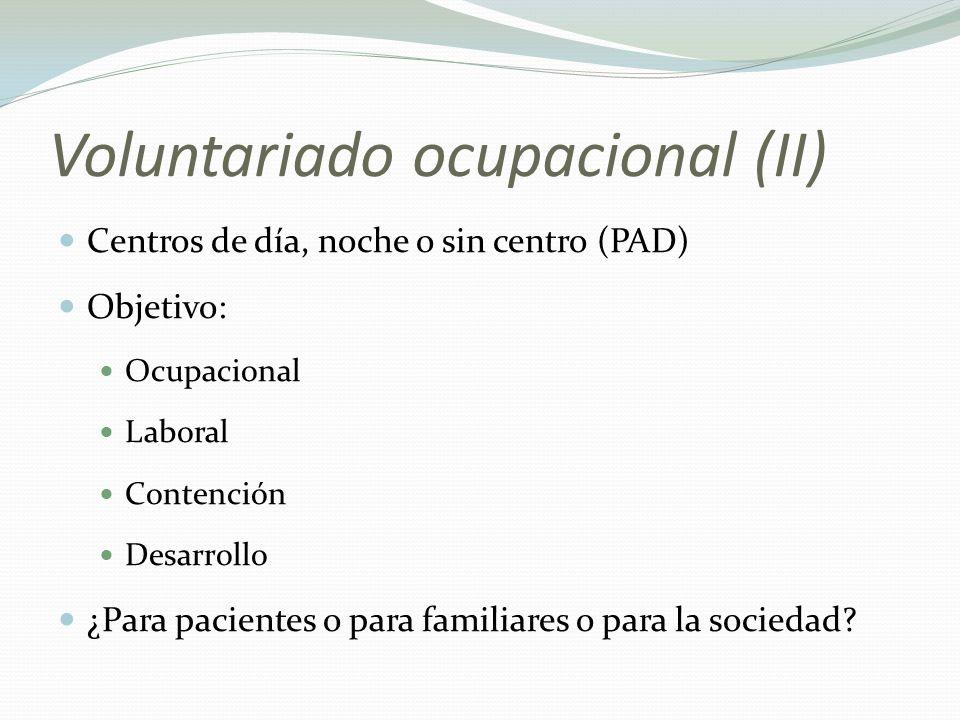 Voluntariado ocupacional (II)