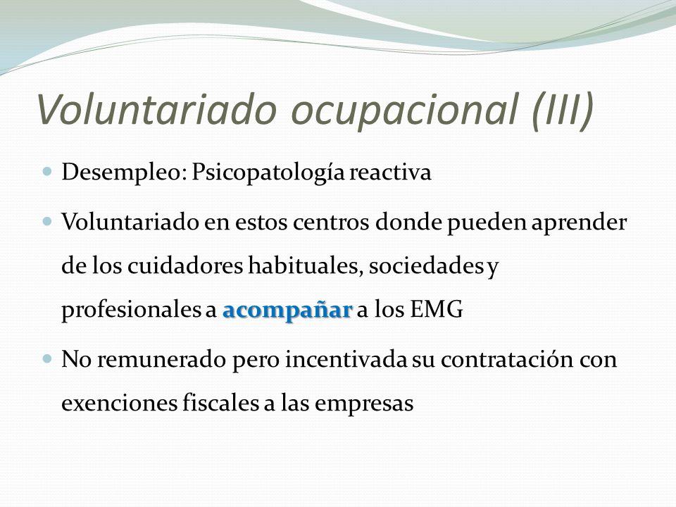 Voluntariado ocupacional (III)