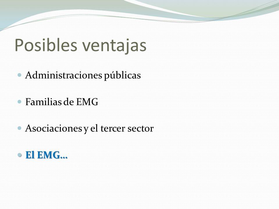 Posibles ventajas Administraciones públicas Familias de EMG