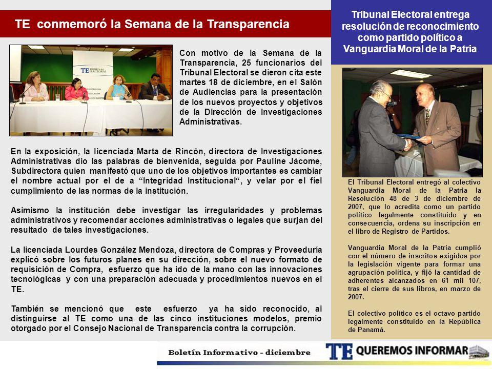 TE conmemoró la Semana de la Transparencia