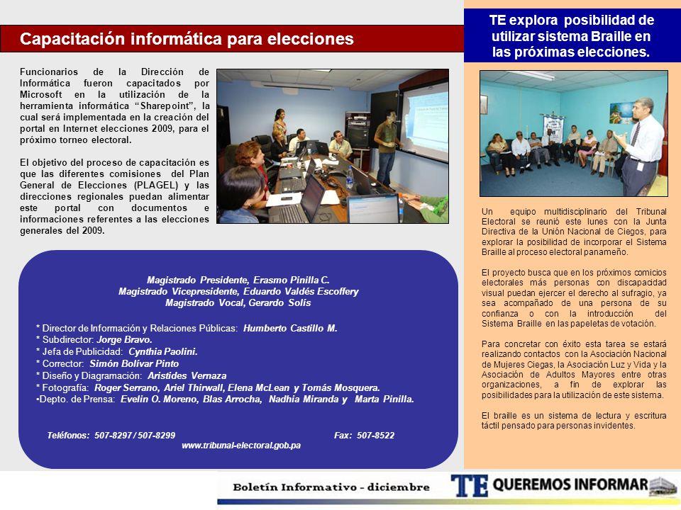 Capacitación informática para elecciones