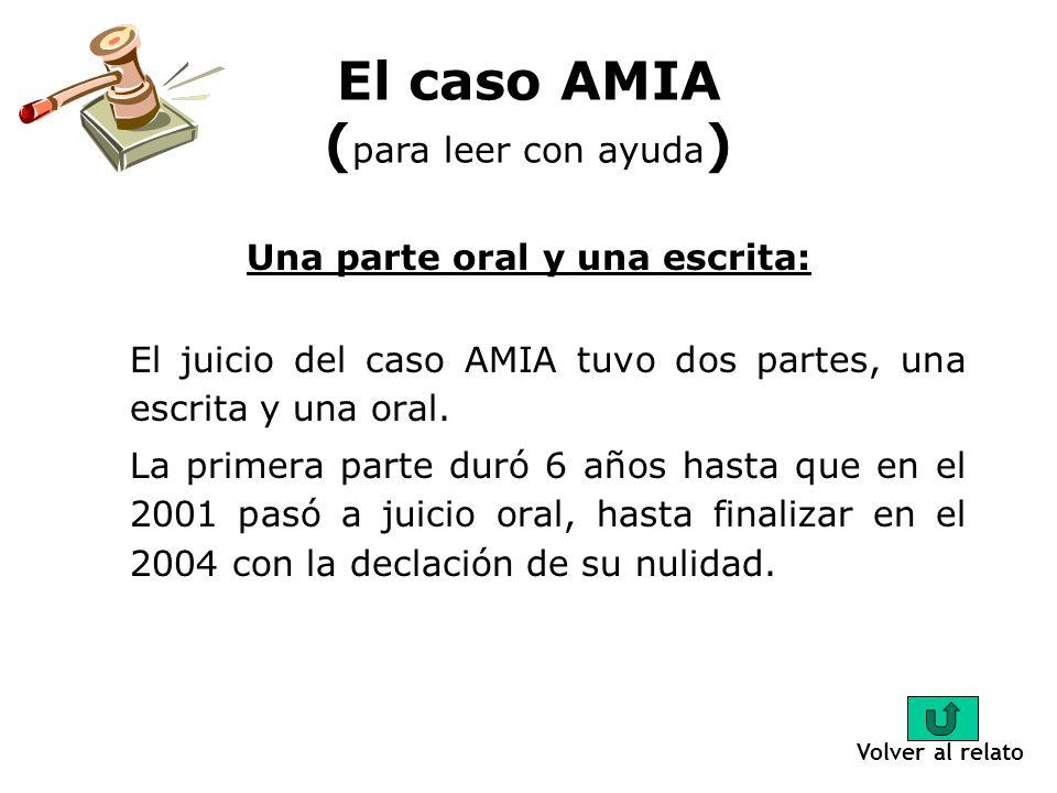 El caso AMIA (para leer con ayuda)