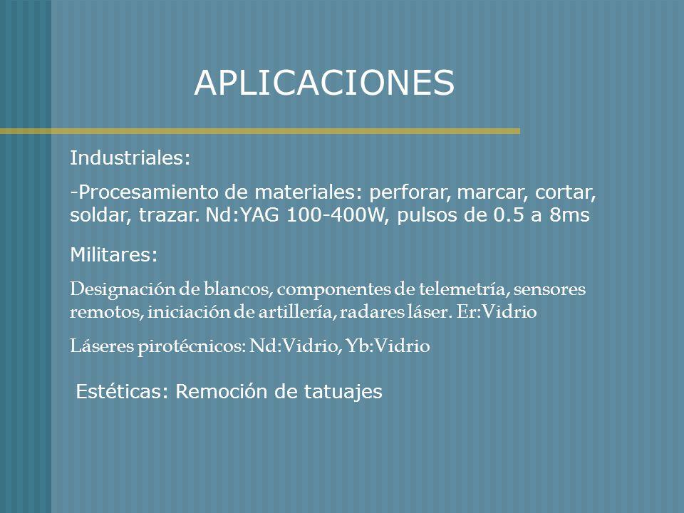 APLICACIONES Industriales:
