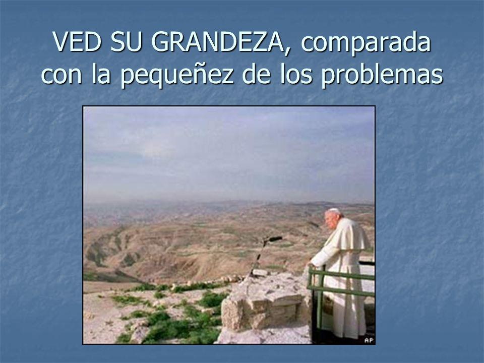 VED SU GRANDEZA, comparada con la pequeñez de los problemas