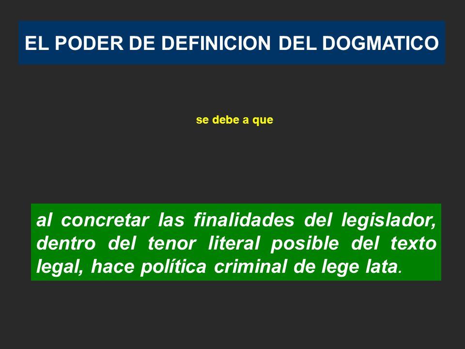 EL PODER DE DEFINICION DEL DOGMATICO