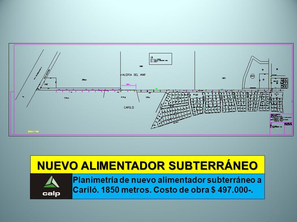 NUEVO ALIMENTADOR SUBTERRÁNEO