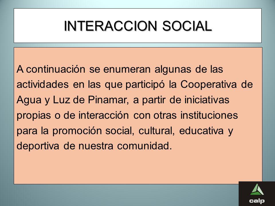 INTERACCION SOCIAL A continuación se enumeran algunas de las