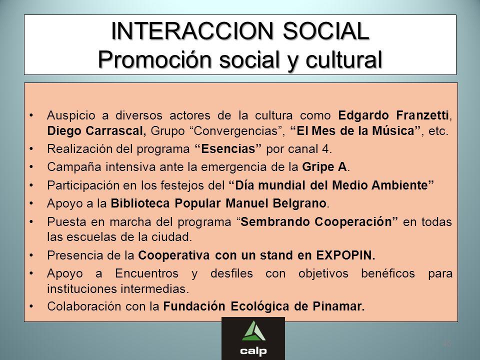 INTERACCION SOCIAL Promoción social y cultural