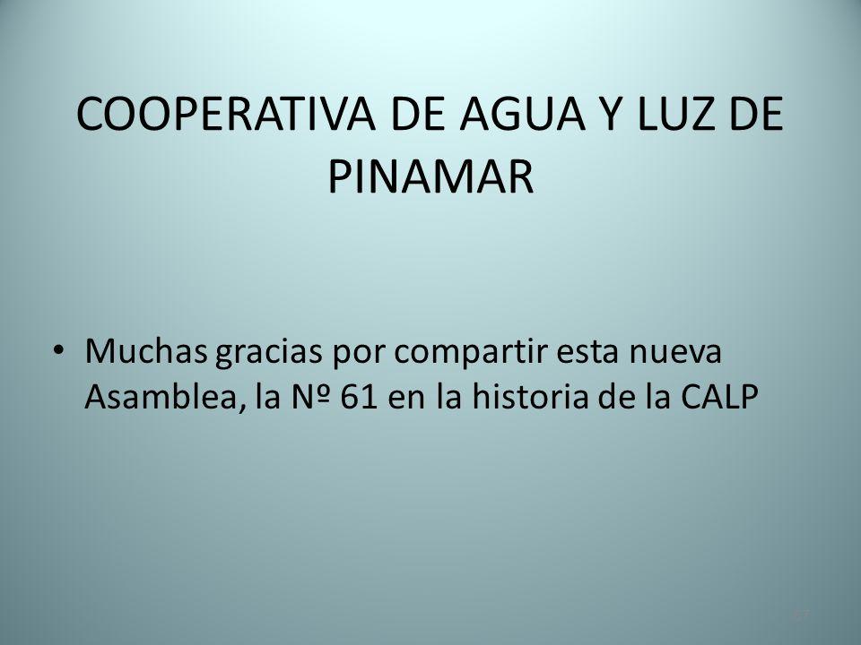 COOPERATIVA DE AGUA Y LUZ DE PINAMAR