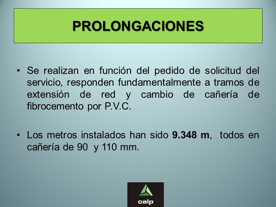 PROLONGACIONES