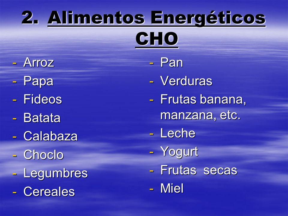 Alimentos Energéticos CHO