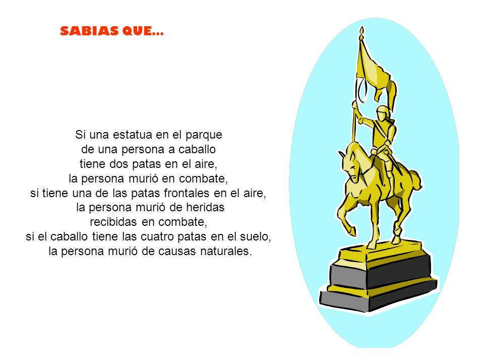 Si una estatua en el parque de una persona a caballo