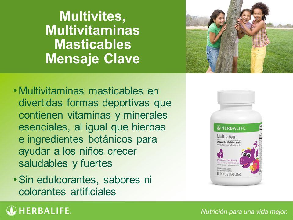 Multivites, Multivitaminas Masticables Mensaje Clave