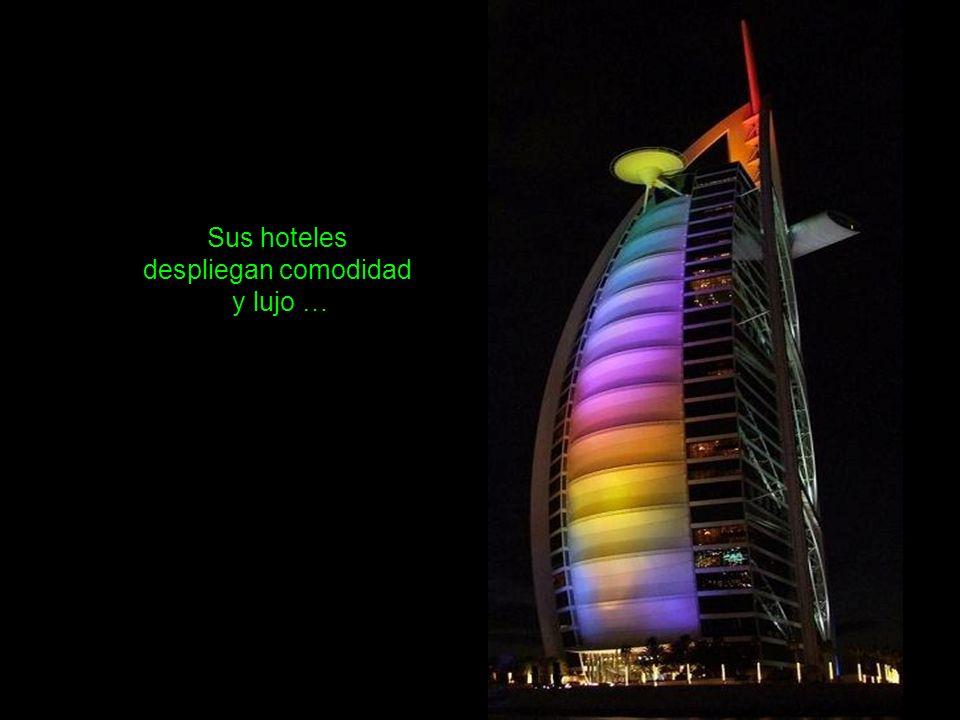 Sus hoteles despliegan comodidad y lujo …