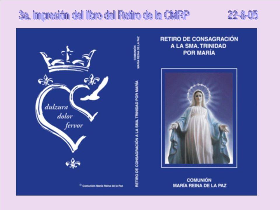 3a. impresión del libro del Retiro de la CMRP