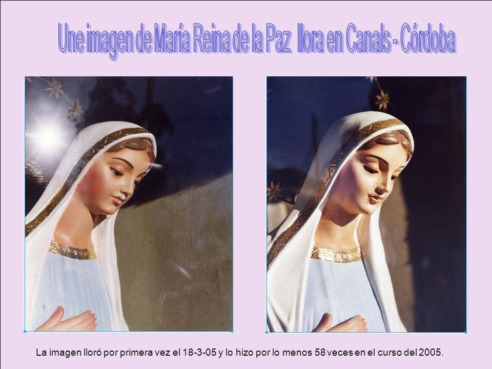 Une imagen de María Reina de la Paz llora en Canals - Córdoba