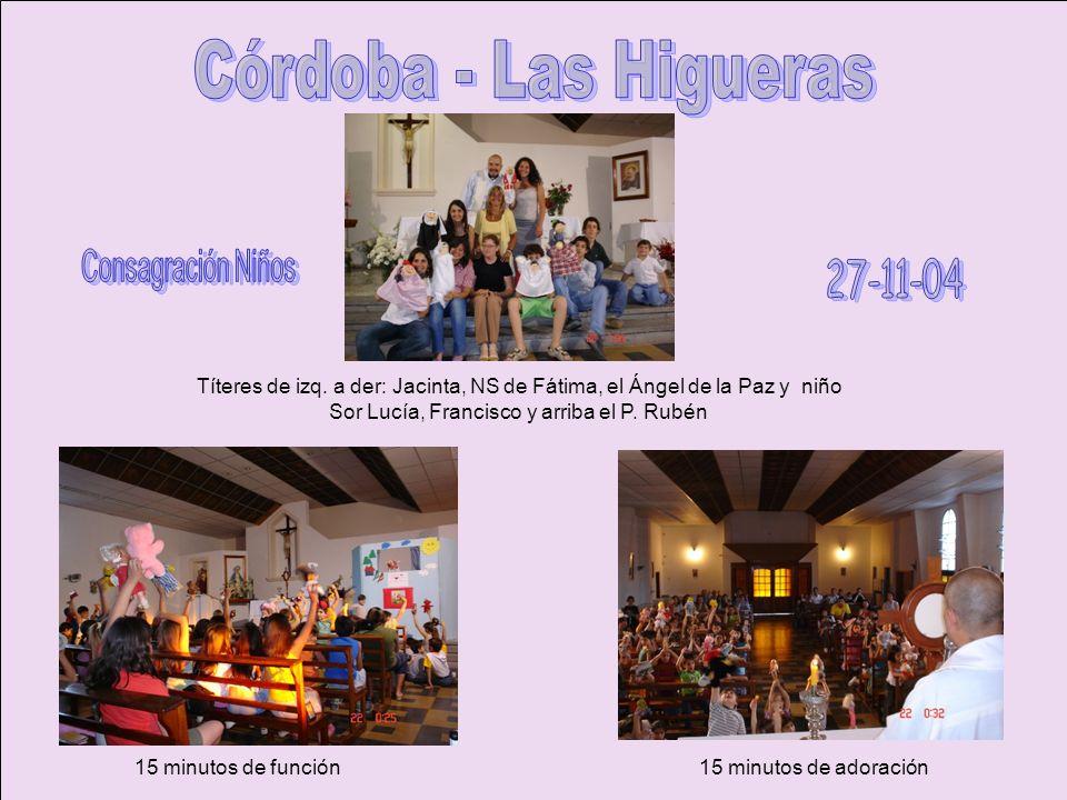 Córdoba - Las Higueras 27-11-04 Consagración Niños