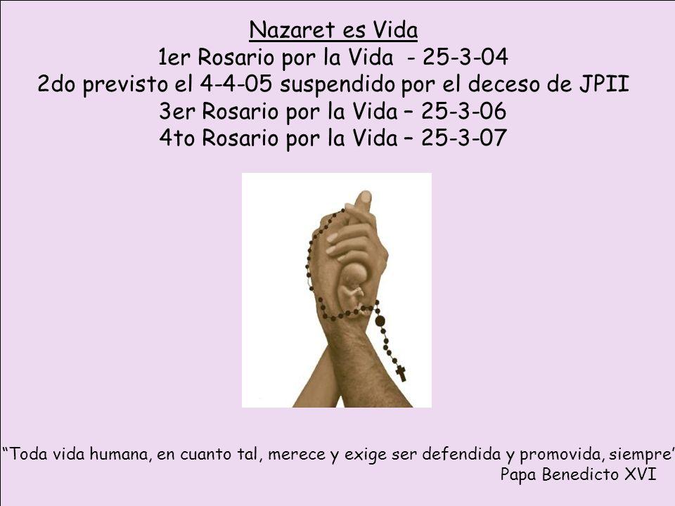 1er Rosario por la Vida - 25-3-04