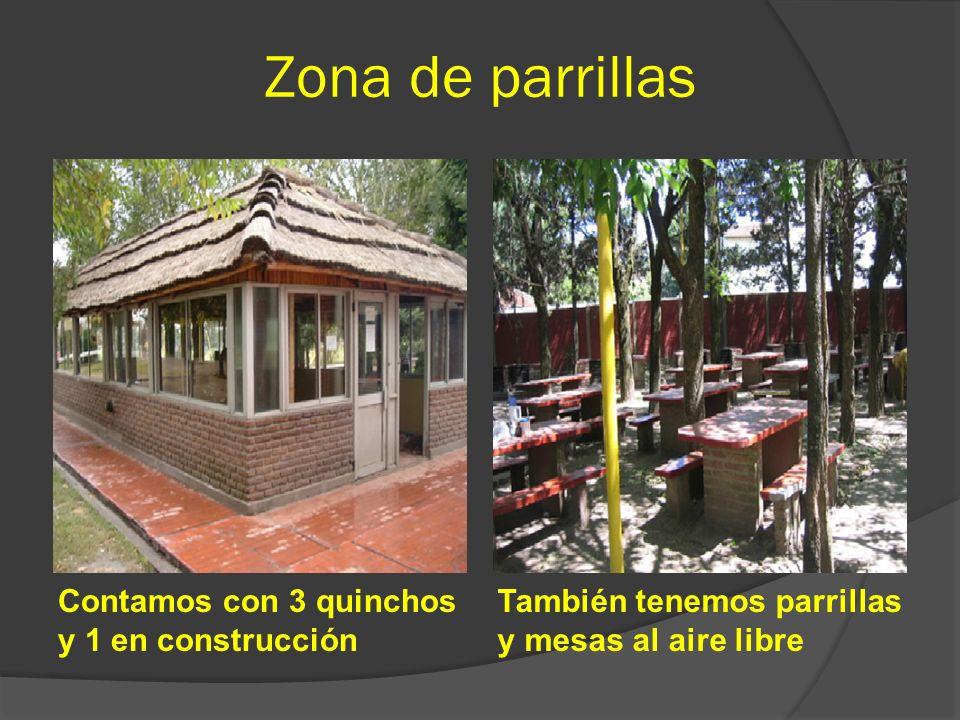Zona de parrillas Contamos con 3 quinchos y 1 en construcción