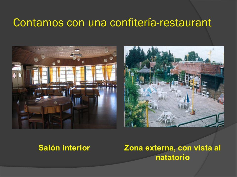 Contamos con una confitería-restaurant
