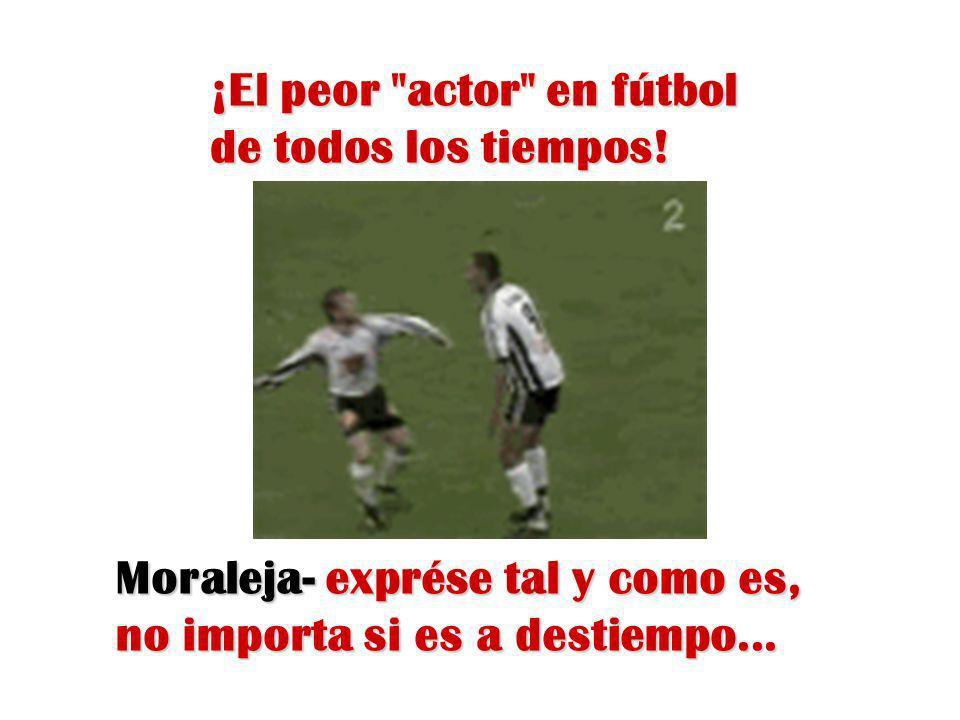 ¡El peor actor en fútbol de todos los tiempos!