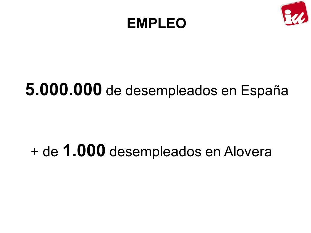 5.000.000 de desempleados en España