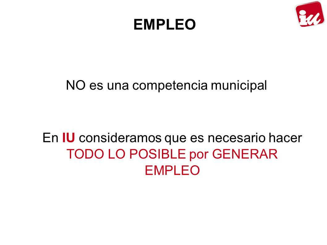 NO es una competencia municipal