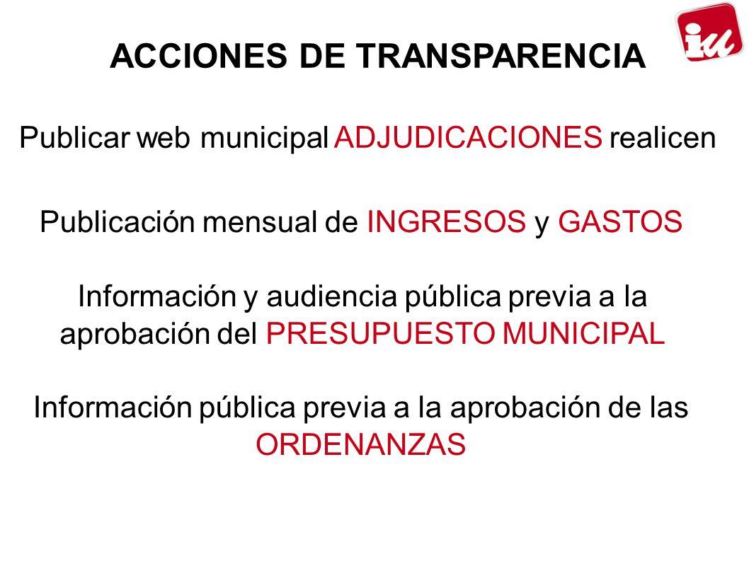 ACCIONES DE TRANSPARENCIA