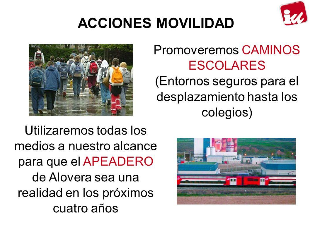 ACCIONES MOVILIDAD Promoveremos CAMINOS ESCOLARES