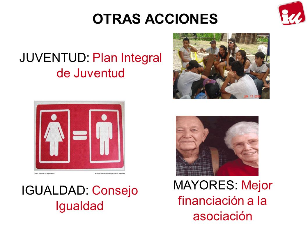 OTRAS ACCIONES JUVENTUD: Plan Integral de Juventud