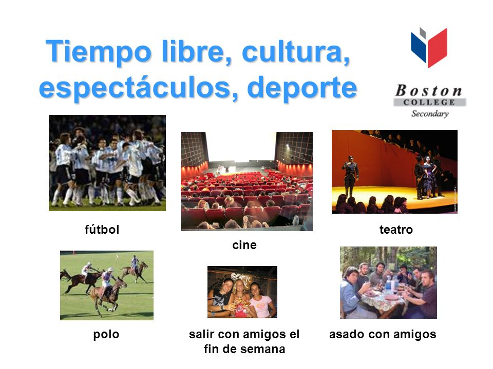 Tiempo libre, cultura, espectáculos, deporte