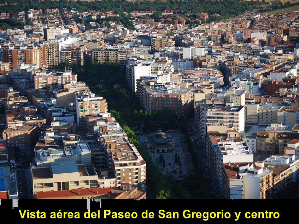 Vista aérea del Paseo de San Gregorio y centro